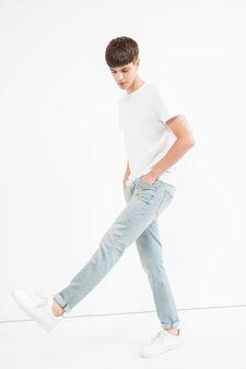 Jeans straight fit stretch effetto delavato, Denim, hi-res
