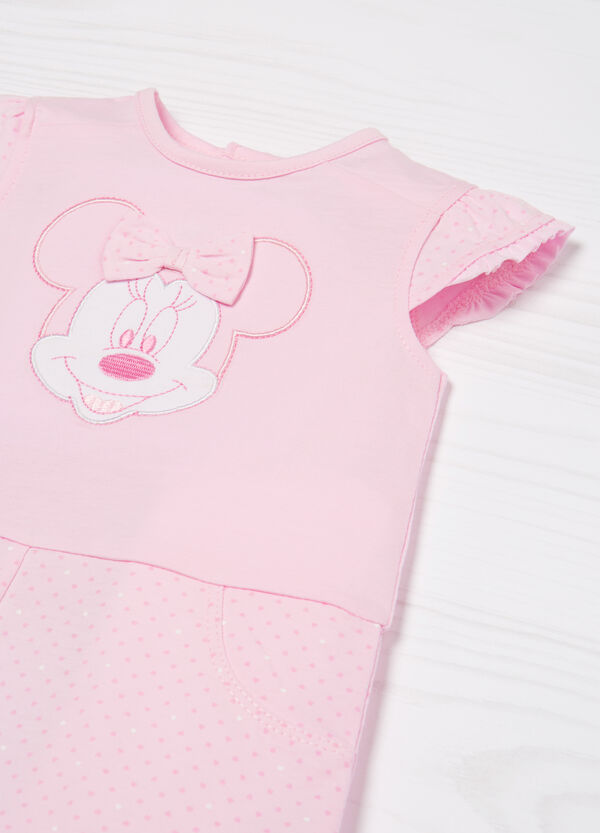100% cotton playsuit with Minnie Mouse print | OVS