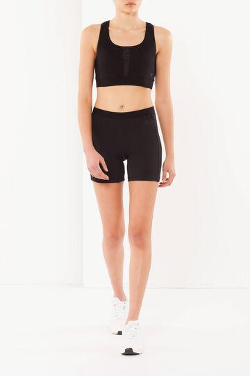 Shorts elasticizzati, Nero, hi-res