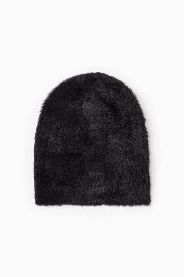 Beanie cap in fur., Black, hi-res