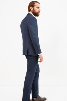 Elegant, regular-fit suit in viscose, Dark Blue, hi-res