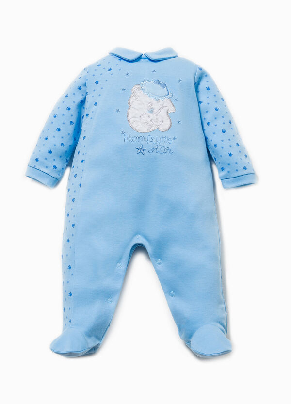 Cotton onesie with embroidery and Dumbo patch | OVS