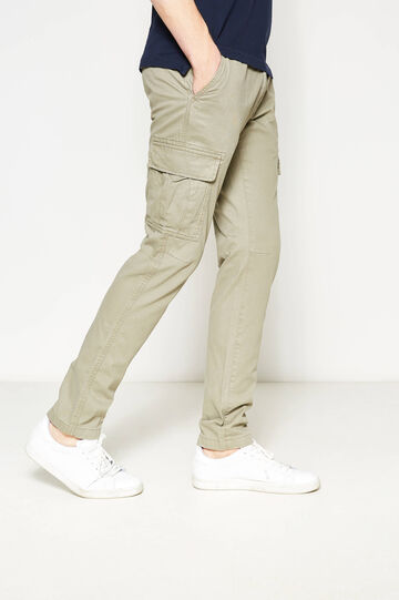 Slim-fit cargo trousers, Sand, hi-res