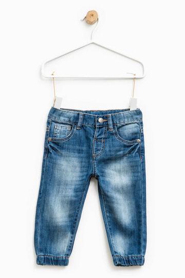 Jeans used con baffature e scoloriture, Denim, hi-res