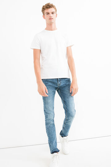 Super skinny-fit jeans with fading, Medium Wash, hi-res