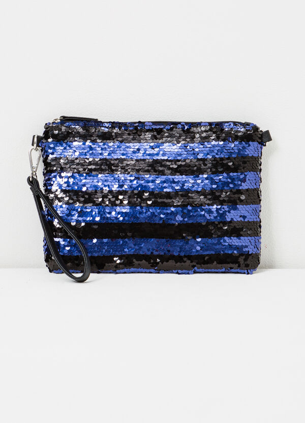 Striped clutch with sequins | OVS