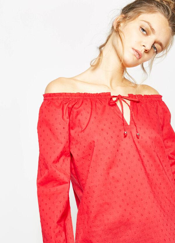 Off-the-shoulder speckled blouse | OVS