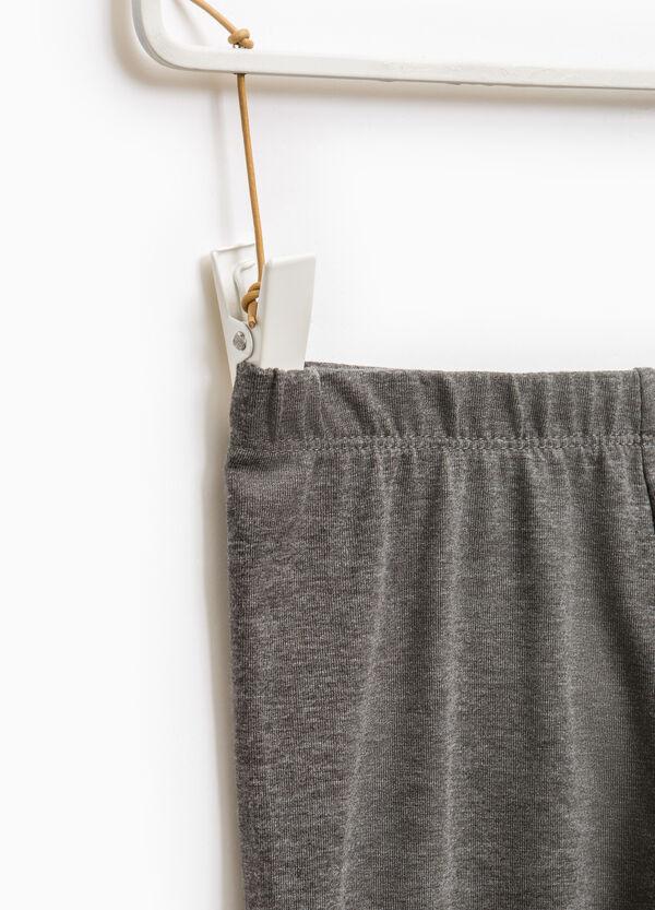 Leggings cotone stretch tinta unita | OVS
