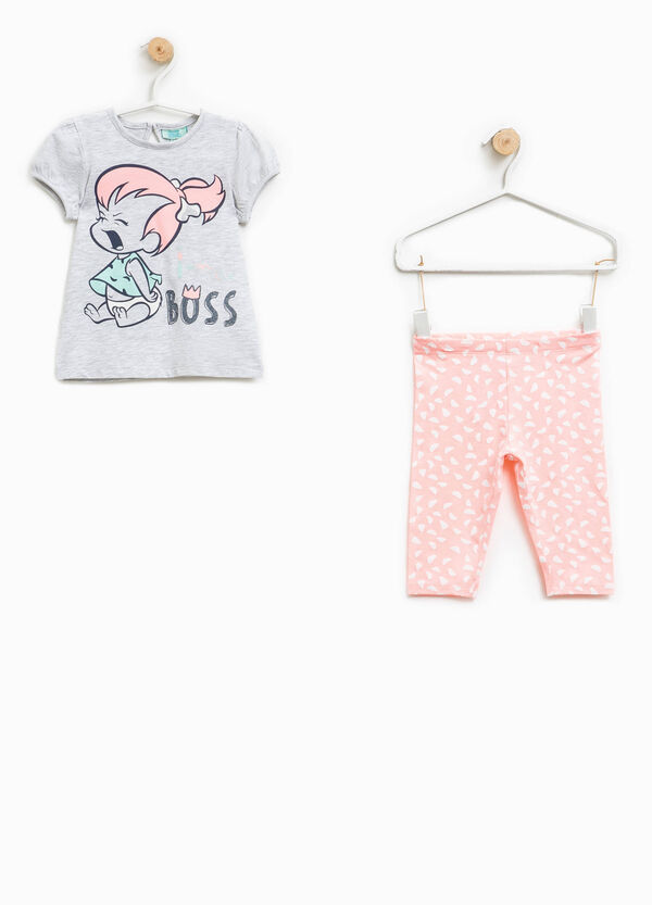 The Flintstones stretch T-shirt and trousers outfit | OVS