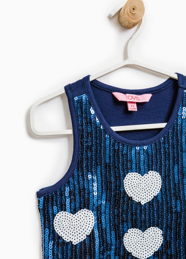 100% cotton sequinned top | OVS