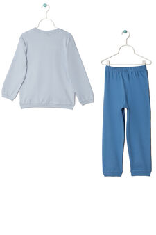 Full-length, 100% cotton pyjamas., Light Blue, hi-res