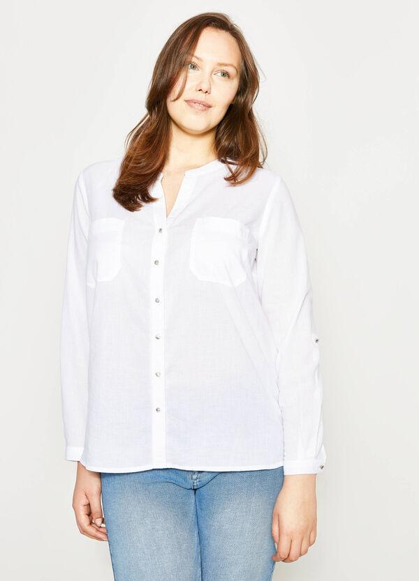 Camicia con colletto coreana Curvy | OVS