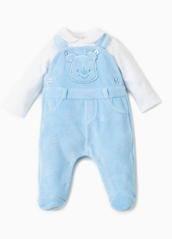 Winnie the Pooh dungarees and polo shirt set | OVS