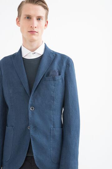 Rumford 100% linen jacket, Blue, hi-res