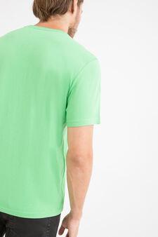 V-neck T-shirt in 100% cotton, Mint Green, hi-res