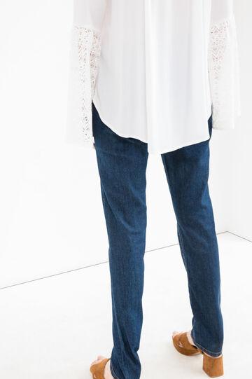 Jeans stretch cuciture contrasto, Blu, hi-res