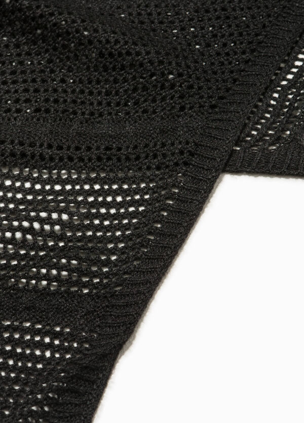 Knitted openwork scarf | OVS