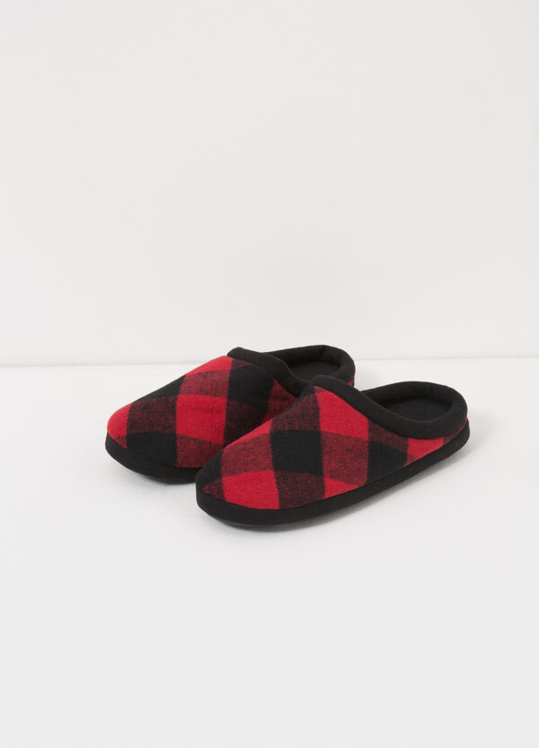 Pantofole in tela a quadri | OVS