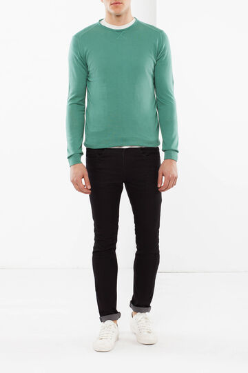 Wide neck Rumford jumper, Green, hi-res
