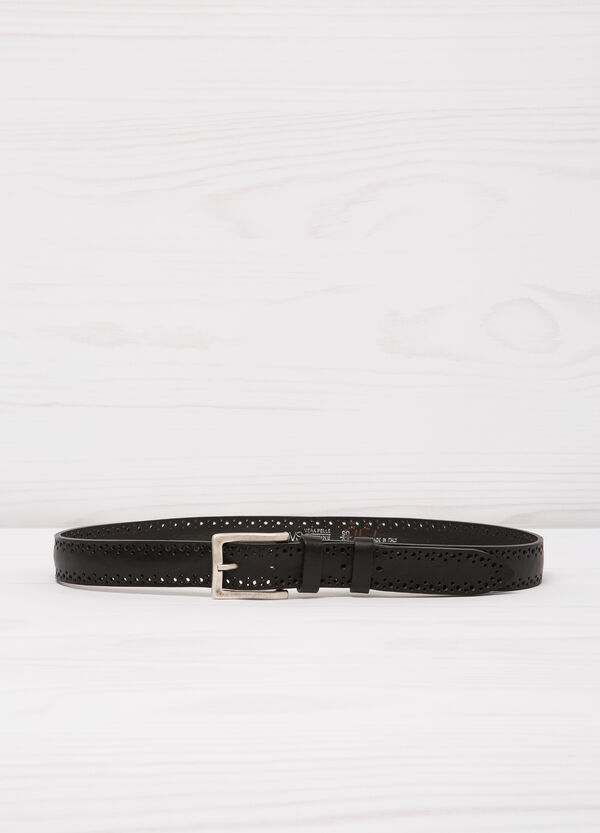 Real leather openwork belt. | OVS