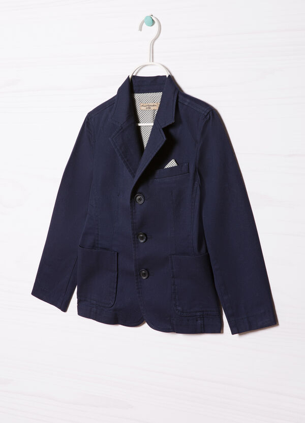 100% cotton jacket with buttons | OVS