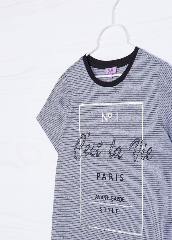 T-shirt misto viscosa con stampa | OVS