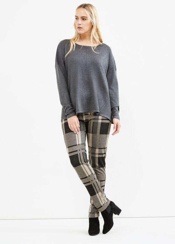 Curvy stretch tartan trousers | OVS