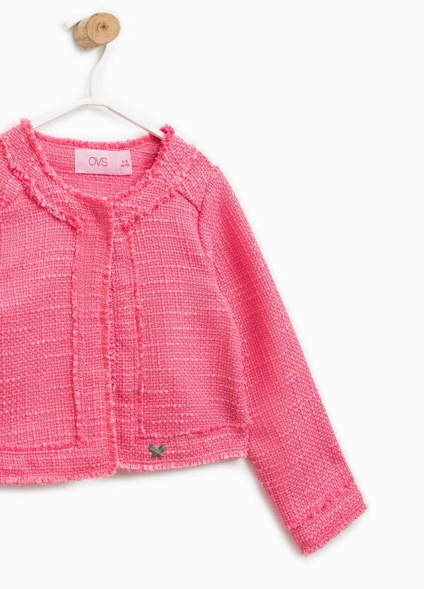 Giubbino in misto cotone lavorato tricot | OVS