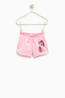 My Little Pony printed cotton shorts, Neon Pink, hi-res