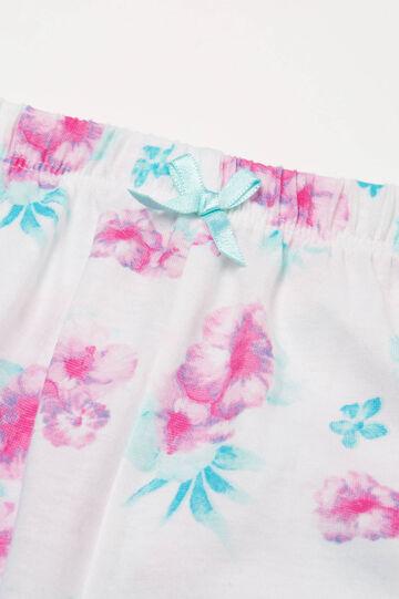 100% cotton floral pyjamas, Light Green, hi-res