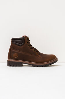 Boots with thick tread sole, Brown, hi-res