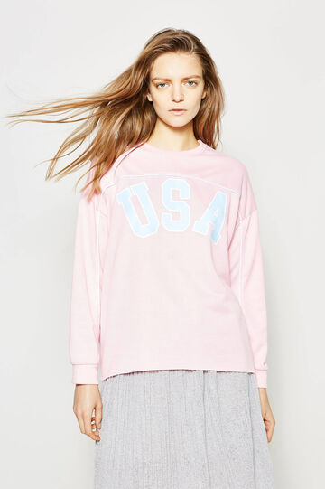 Sweatshirt with contrasting colour edging