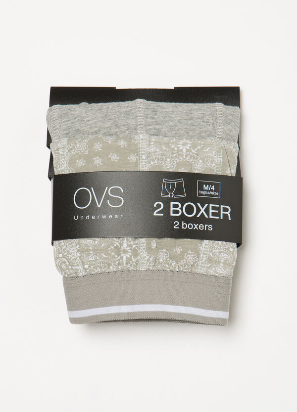 Two-pack paisley stretch boxer shorts | OVS