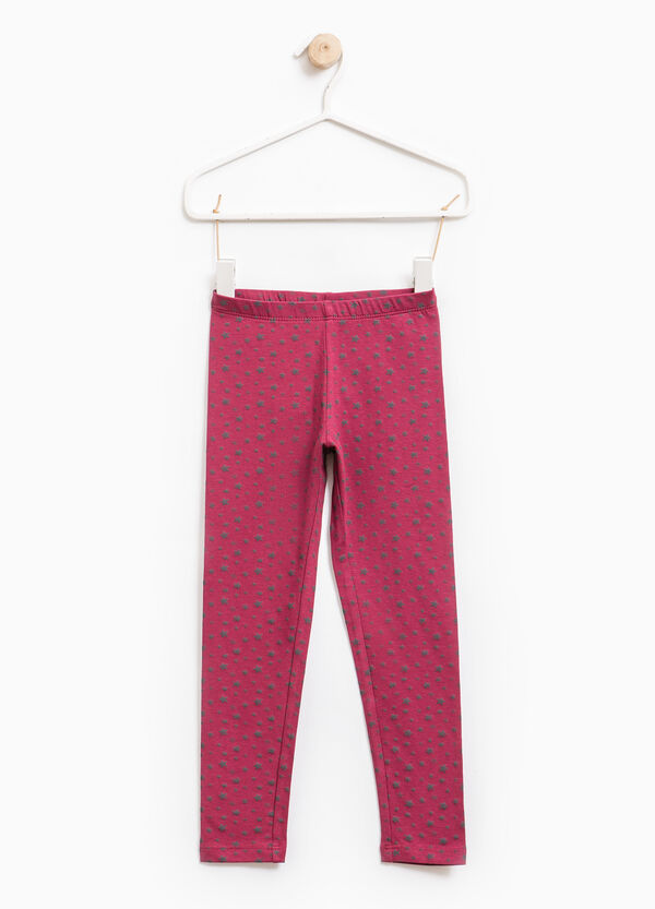 Stretch leggings with all-over print | OVS