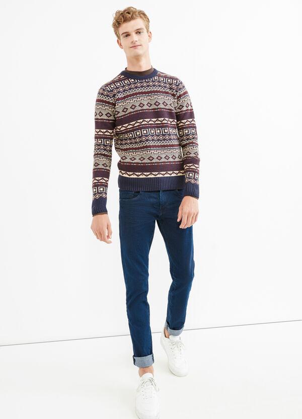 G&H pattern crew-neck pullover | OVS