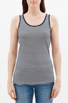 Stretch vest with contrasting trim., White/Blue, hi-res