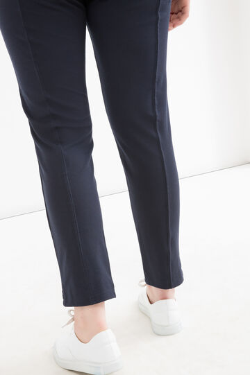 Curvy stretch viscose leggings, Navy Blue, hi-res