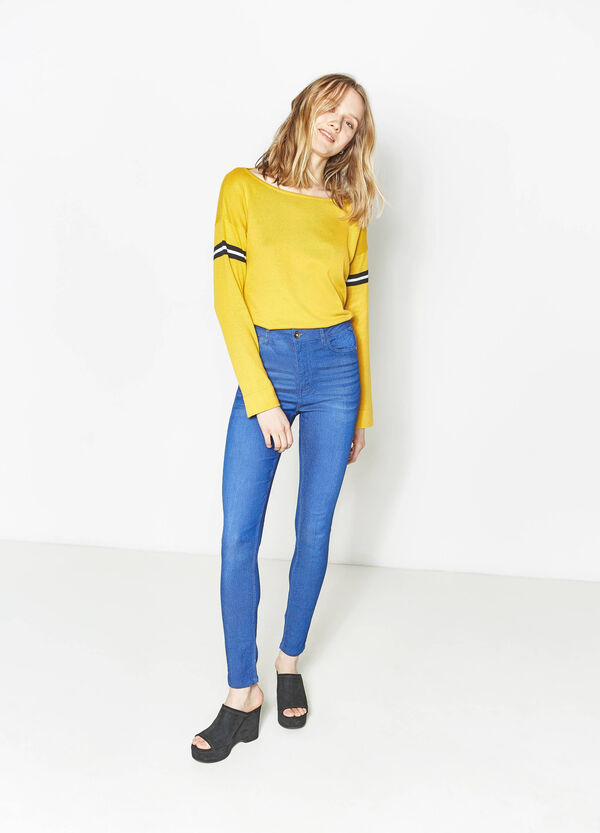 High-waist, skinny-fit stretch jeans | OVS