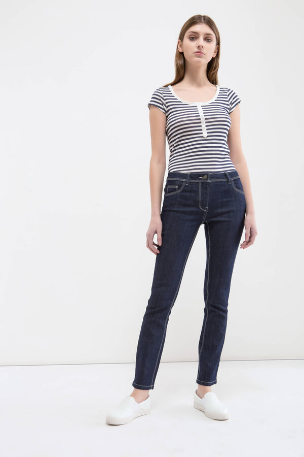 Slim fit jeans with stitching in contrasting colour   OVS