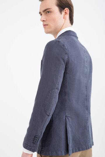 Rumford linen-cotton blend jacket