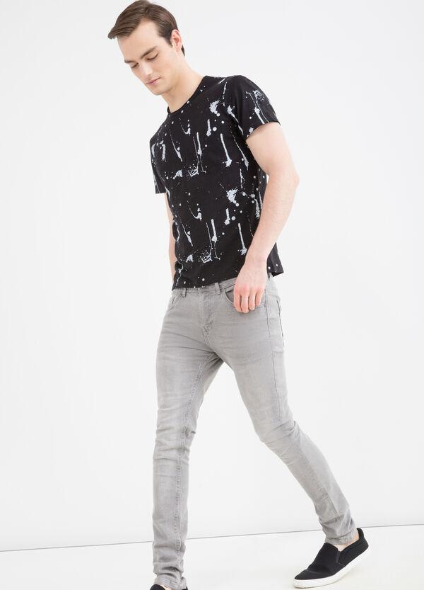 T-shirt cotone effetto macchie | OVS
