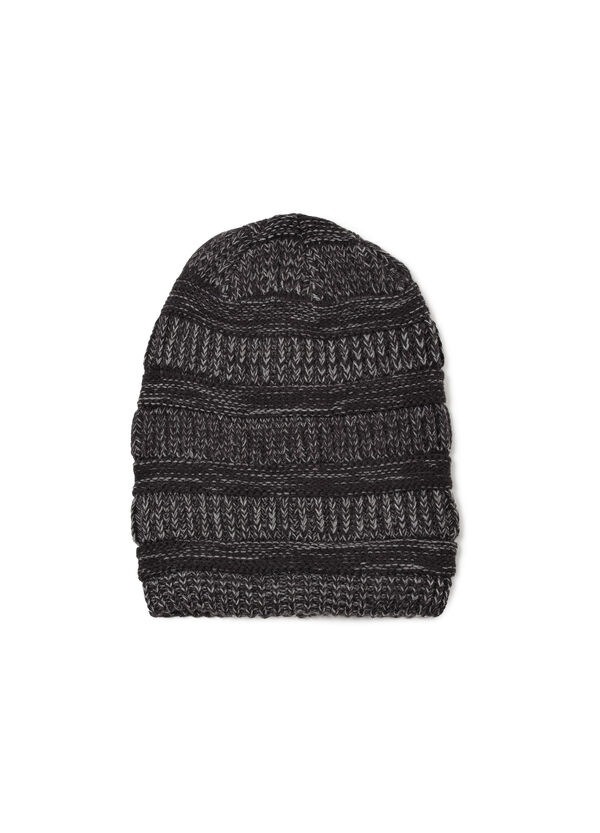 Striped knitted beanie cap | OVS