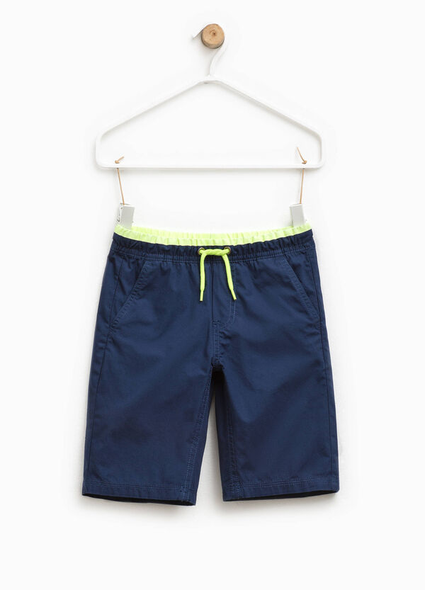 Bermuda shorts with elasticated striped waistband   OVS