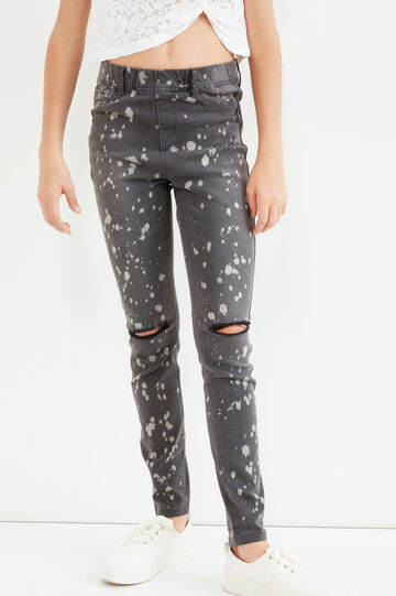 Jeans stretch con strappi Teen, Denim, hi-res