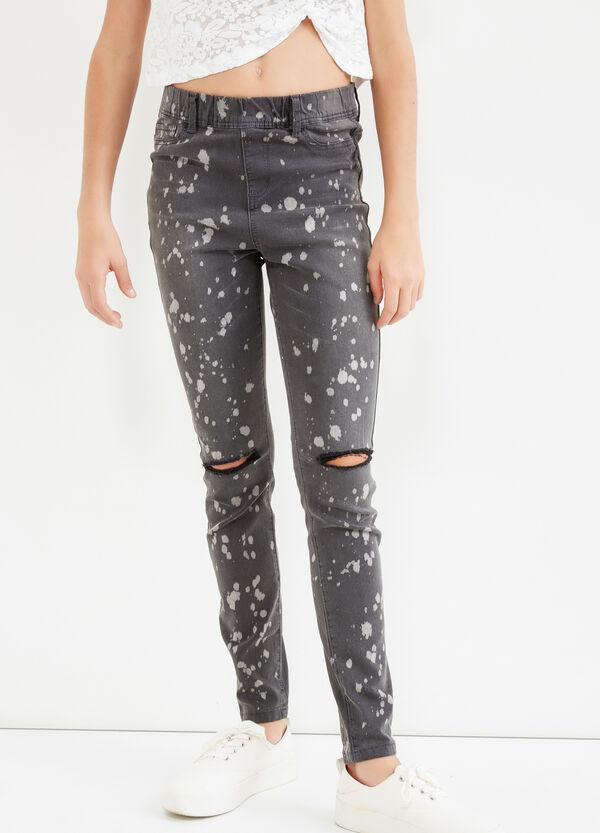 Jeans stretch con strappi Teen   OVS