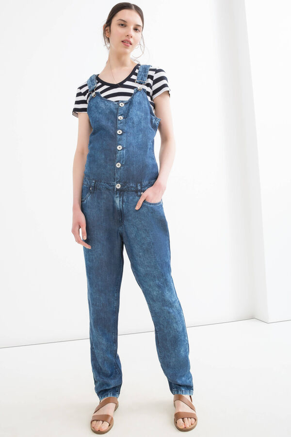 Mis-dyed denim dungarees | OVS