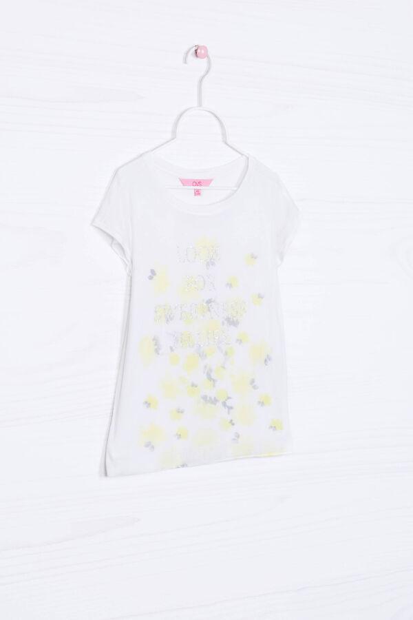 Viscose T-shirt with glitter print | OVS