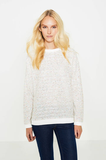 Sweatshirt with round neck and sequins