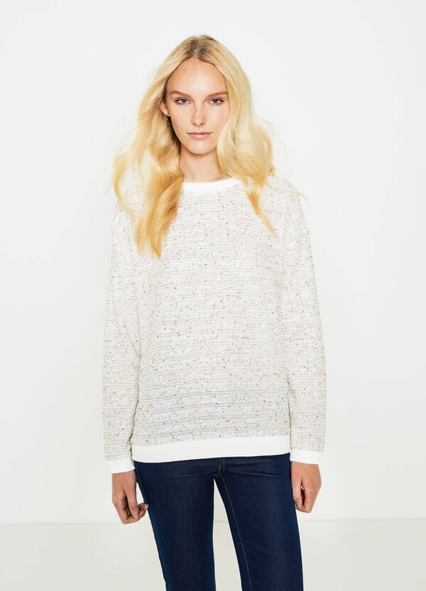 Sweatshirt with round neck and sequins | OVS