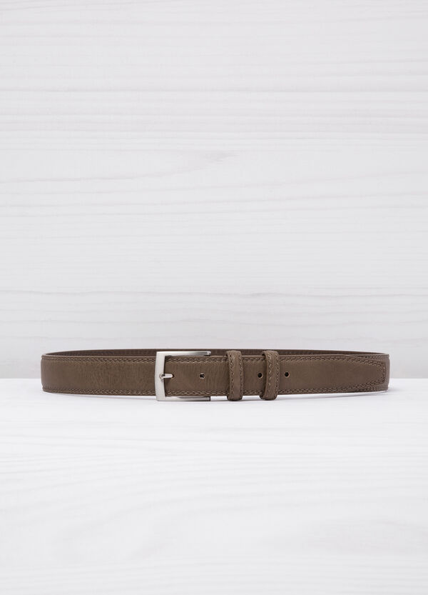 Leather look belt with double loop | OVS